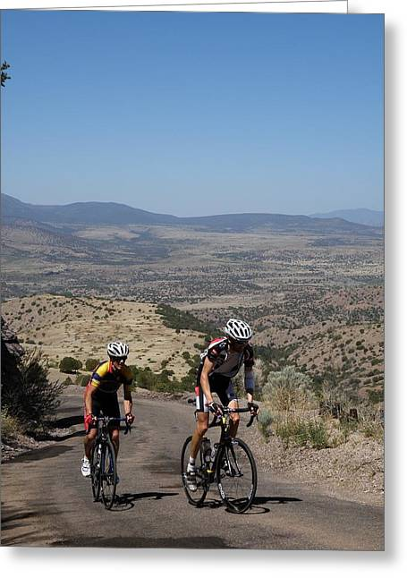 Tour Of The Gila Greeting Cards - What a Climb Greeting Card by Feva  Fotos