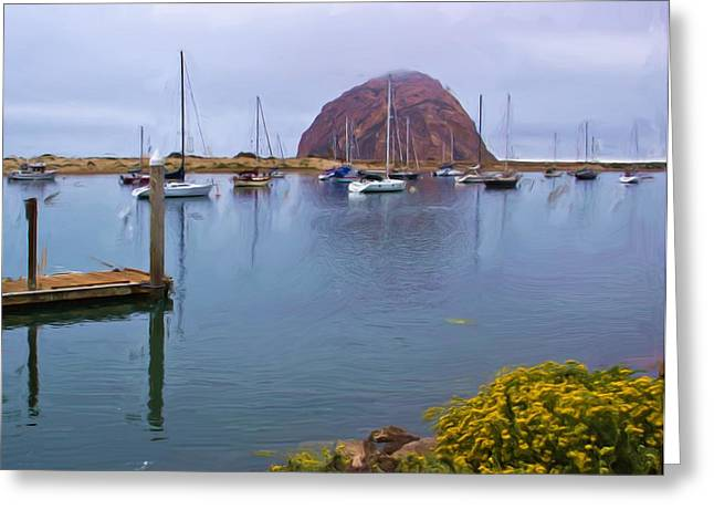 Morro Bay Greeting Cards - What A View Greeting Card by Heidi Smith