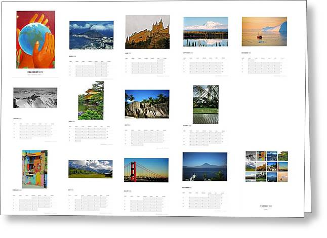 What A Wonderful World Calendar 2012 Greeting Card by Juergen Weiss