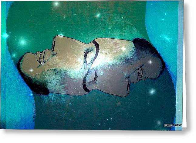 What Is Above Is Like What Is Underneath Greeting Card by Paulo Zerbato