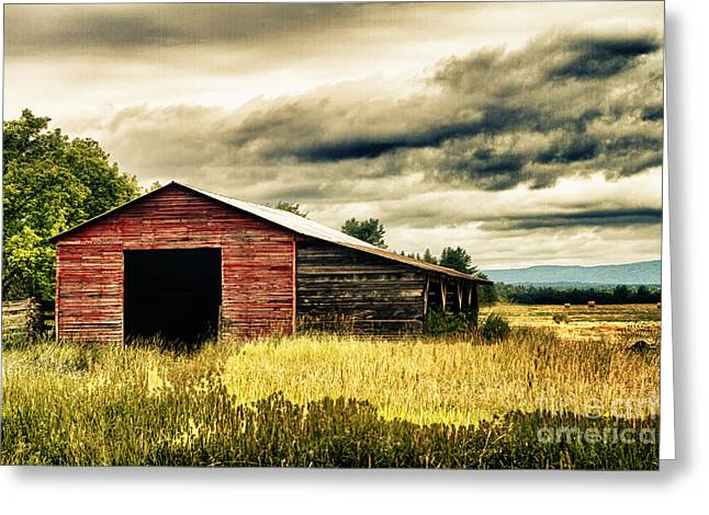 Old Barns Greeting Cards - What is Inside Greeting Card by Tim Wilson