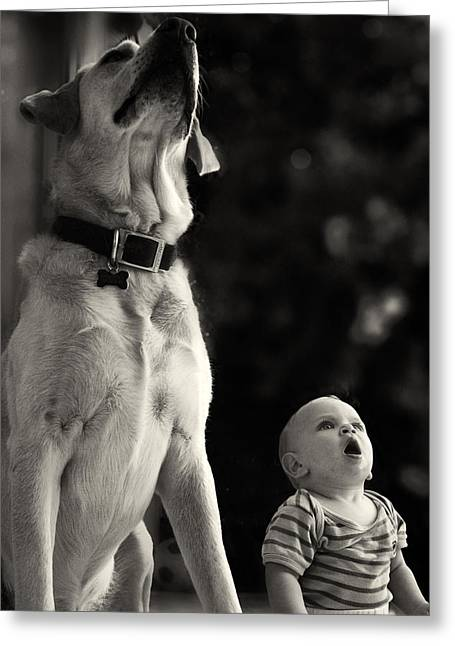 Childs Dog Greeting Cards - What Is That Greeting Card by Stylianos Kleanthous