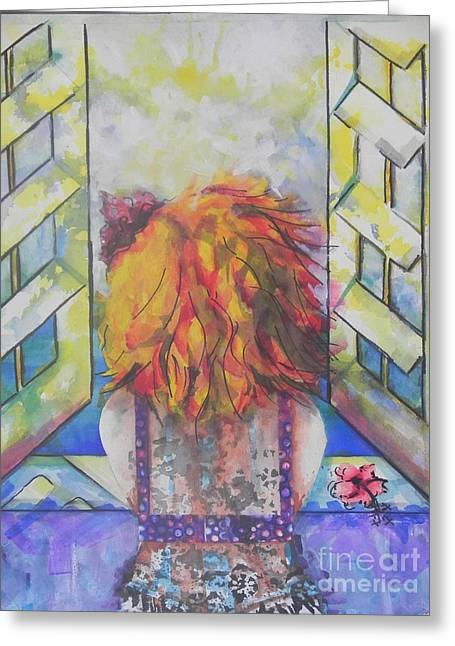 Religion Greeting Cards - What Lies Ahead Series  I Miss You 2  Greeting Card by Chrisann Ellis