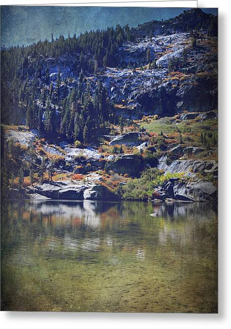 Angora Lakes Greeting Cards - What Lies Before Me Greeting Card by Laurie Search