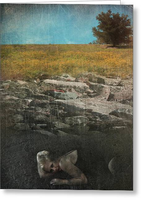 Ground Greeting Cards - What Lies Below Greeting Card by Laurie Search