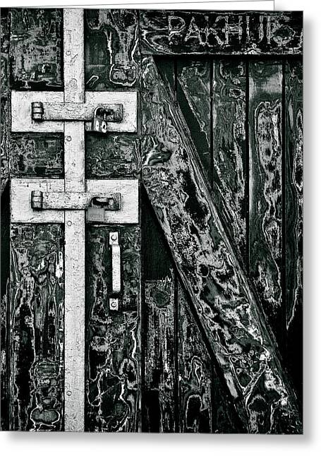 Old Door Greeting Cards - What Once Was Green... Greeting Card by Dave Bowman