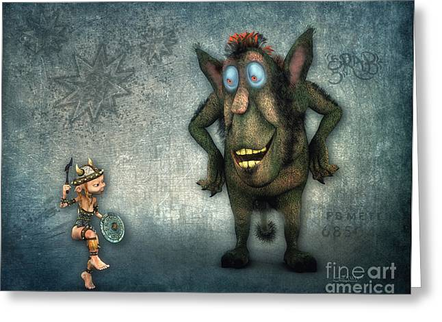 Storybook Greeting Cards - Whats Up? Greeting Card by Jutta Maria Pusl
