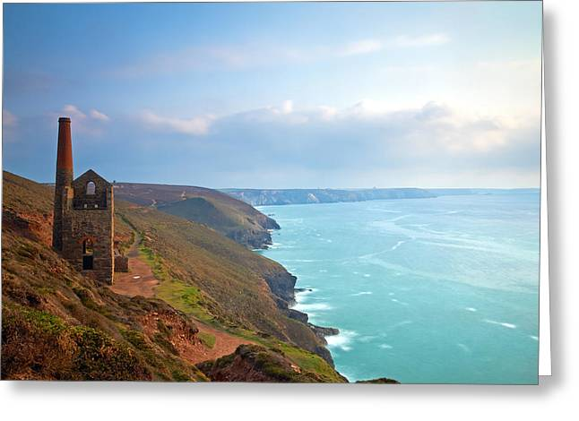 Summer Squall Greeting Cards - Wheal Coates Tin Mine Greeting Card by Michael Stretton