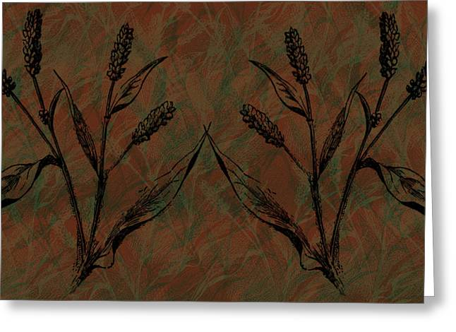 Wheat field Greeting Card by Evelyn Patrick