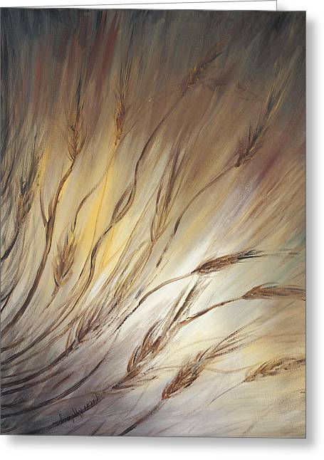 Wheat Greeting Cards - Wheat in the Wind Greeting Card by Nadine Rippelmeyer