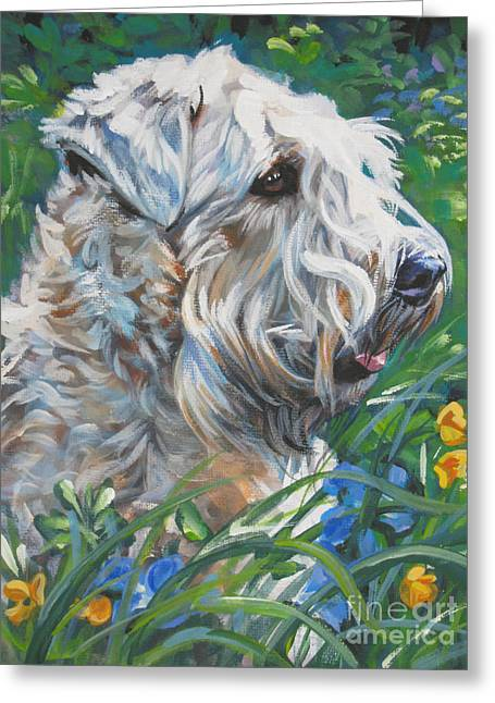Soft Puppy Greeting Cards - Wheaten Terrier Greeting Card by Lee Ann Shepard