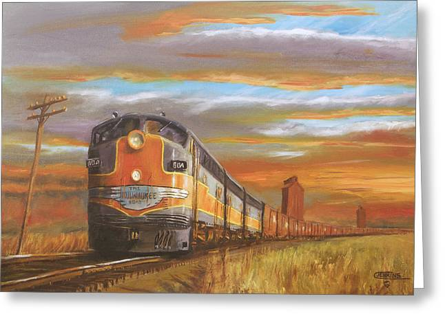 Boxcars Greeting Cards - Wheat....From North Dakota Greeting Card by Christopher Jenkins