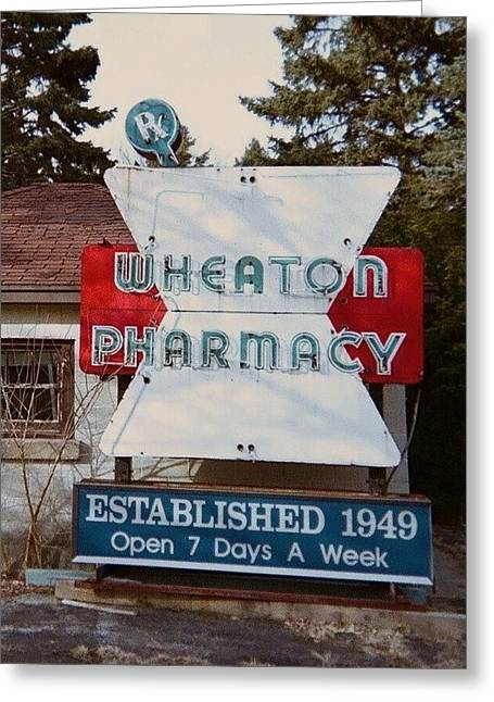 Todd Sherlock Greeting Cards - Wheaton Pharmacy Greeting Card by Todd Sherlock