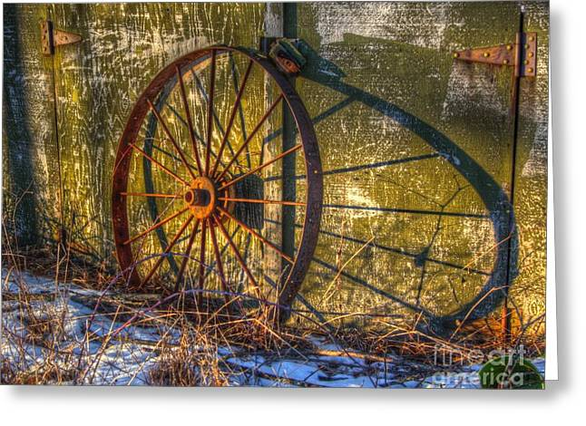 Spokes Greeting Cards - Wheel from the past Greeting Card by Robert Pearson