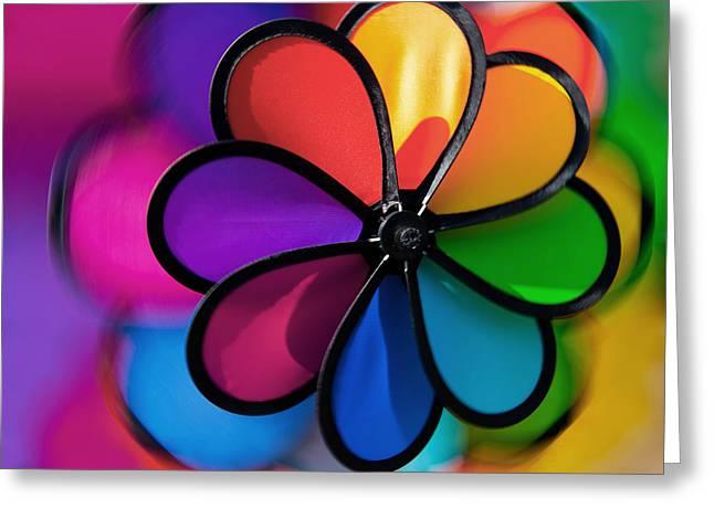 Nahmias Greeting Cards - Wheel of Colors Greeting Card by Eyal Nahmias