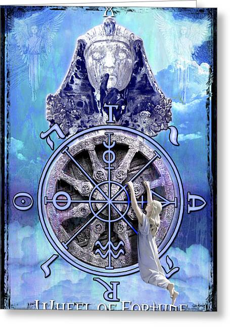 Divine Feminine Greeting Cards - Wheel of Fortune Greeting Card by Tammy Wetzel