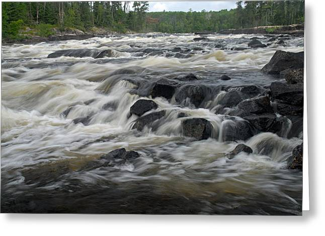 Canoe Waterfall Greeting Cards - Wheelbarrow Falls Greeting Card by Larry Ricker
