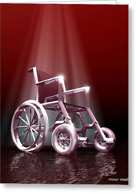 Wheelchair Greeting Cards - Wheelchair Greeting Card by Victor Habbick Visions