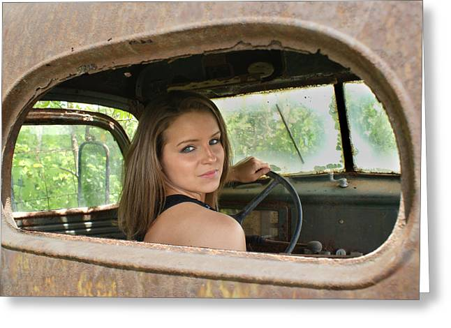 Rearview Greeting Cards - Wheelin Greeting Card by Off The Beaten Path Photography - Andrew Alexander