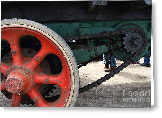 Wheels of Steam Powered Truck 7d15103 Greeting Card by Wingsdomain Art and Photography