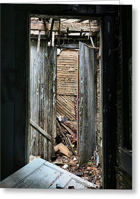 Creapy Greeting Cards - When One Door Closes Greeting Card by JC Findley