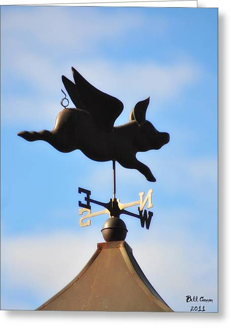 Cupola Greeting Cards - When Pigs Fly Greeting Card by Bill Cannon