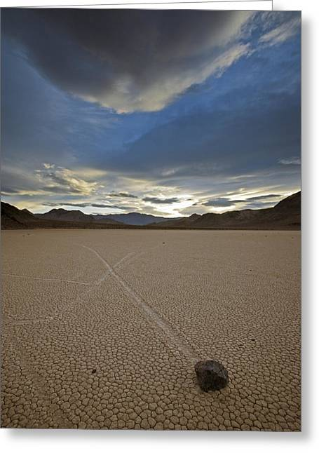 Dry Lake Greeting Cards - When Silt On The Ground Is Wet, Wind Greeting Card by Michael Melford