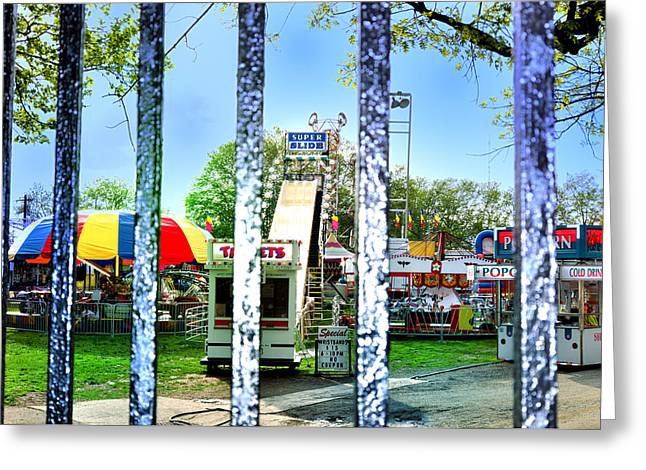 Carnivale Greeting Cards - When the Carnivale Came to Town Greeting Card by Bill Cannon
