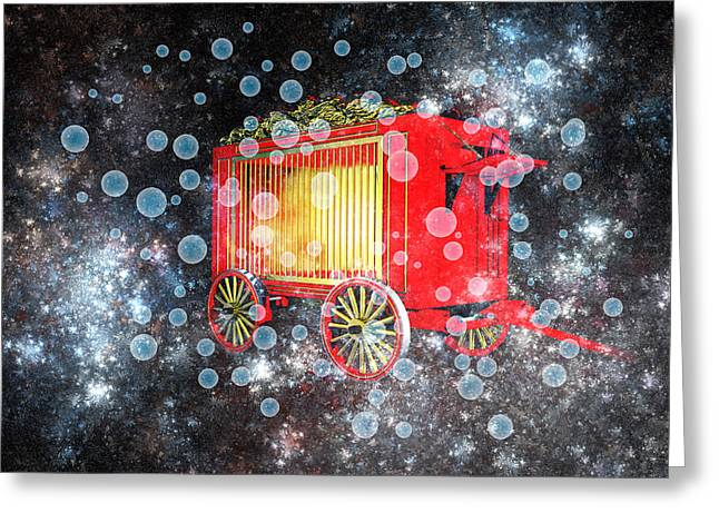 When The Circus Comes To Town Greeting Card by Carol and Mike Werner