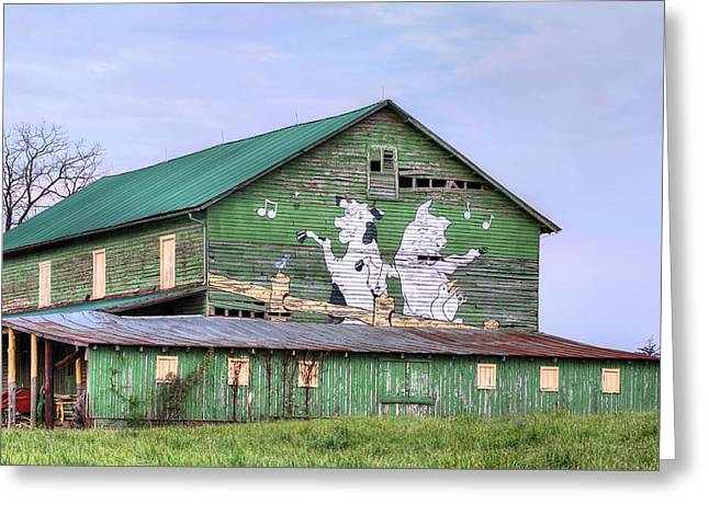 Barn Dance Greeting Cards - When the Farmers Away Greeting Card by JC Findley