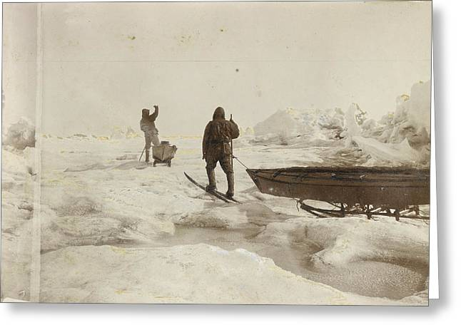 When The Fram Did Not Reach The North Greeting Card by Fridtjof Nansen