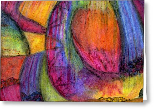 Treasures Pastels Greeting Cards - When the Heavens Open Greeting Card by Cassandra Donnelly