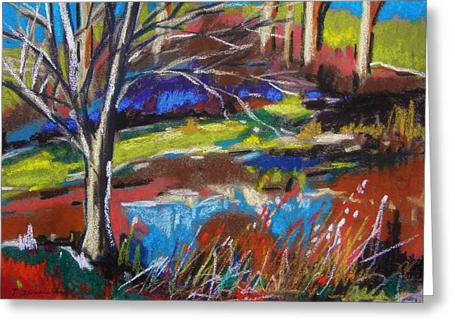 Williams Pastels Greeting Cards - Where Deer Walk Through Greeting Card by John  Williams