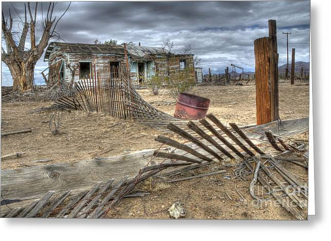 Abandonded Greeting Cards - Where Does The Story End Greeting Card by Bob Christopher