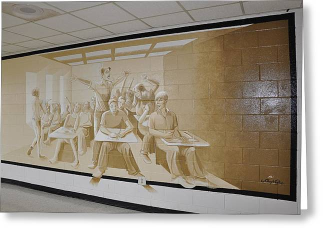 Mural Reliefs Greeting Cards - Where Dreams Begin Greeting Card by Chuck Collins