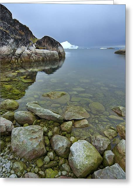 Greenland Greeting Cards - Where Giants Rule Greeting Card by Robert Lacy