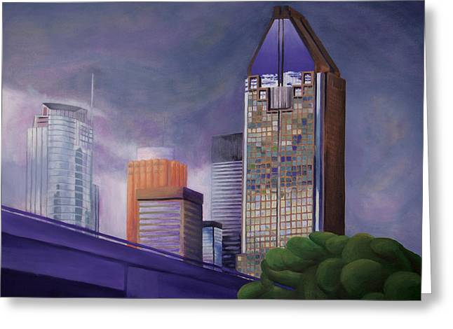 Montreal Urban Landscapes Greeting Cards - Where Gods Come to Earth Greeting Card by Duane Gordon