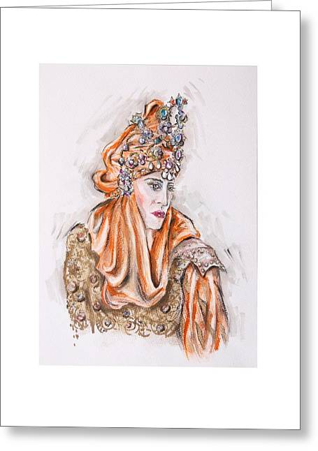 Procession Framed Prints Greeting Cards - Where Is My Prince or Donde Esta Mi Principe Greeting Card by Jill Bennett