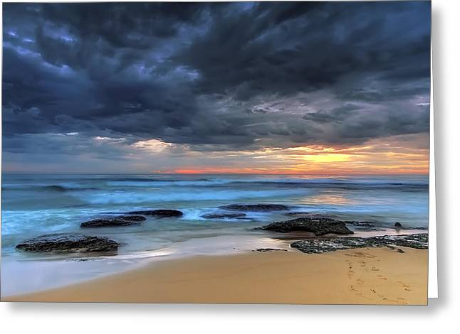 Grey Clouds Greeting Cards - Where One once Stood Greeting Card by Mark Lucey