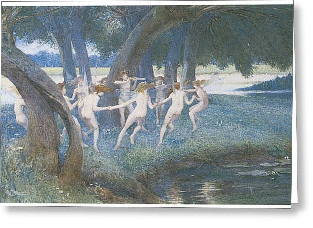 Dwell Greeting Cards - Where Rural Fays and Fairies Dwell Greeting Card by Walter Jenks Morgan