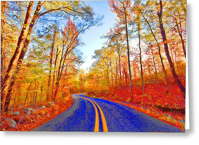 Scenic Drive Greeting Cards - Where the Road Snakes Greeting Card by Douglas Barnard