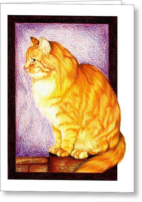 Colour Pencil Greeting Cards - Wheres My Dinner Greeting Card by Sheryl Unwin