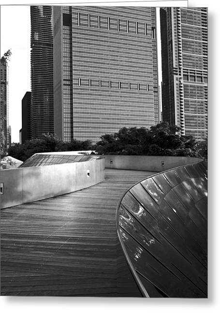 Chicago Black White Greeting Cards - Wherever The Path May Take You Greeting Card by Daniel Chen