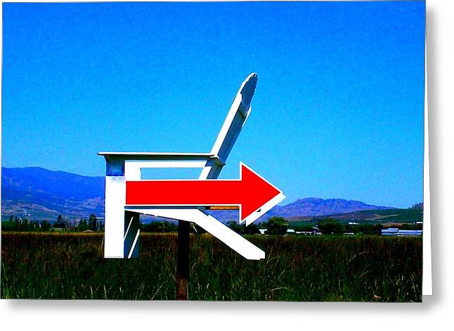 Which Way To Adirondack Greeting Card by Randall Weidner