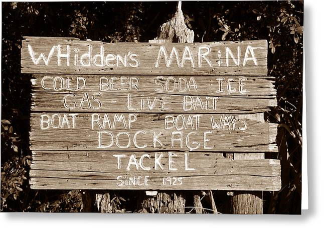 Boca Grande Greeting Cards - Whiddens Marina 1925 Greeting Card by David Lee Thompson