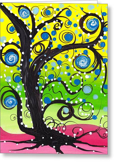 Abril Andrade Greeting Cards - Whims Tree Greeting Card by  Abril Andrade Griffith