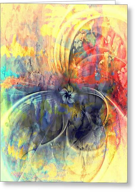 Floral Digital Art Digital Art Greeting Cards - Whimsical Greeting Card by Amanda Moore