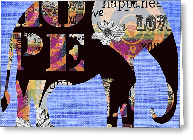Baby Licensing Greeting Cards - Whimsical Bohemian Elephant Greeting Card by ArtyZen Home