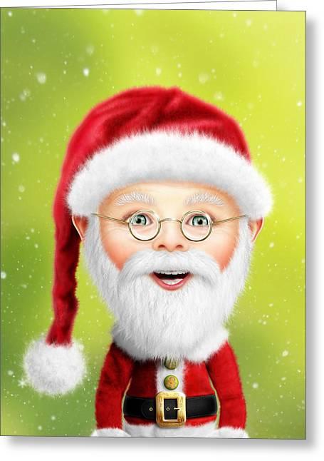 Whimsical Santa Claus Greeting Card by Bill Fleming