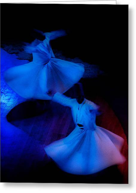 Whirling Dervish - 3 Greeting Card by Okan YILMAZ